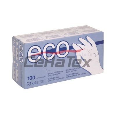 Rukavice ECO Latex pudrované