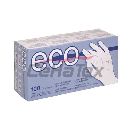 Rukavice ECO Latex pudrované