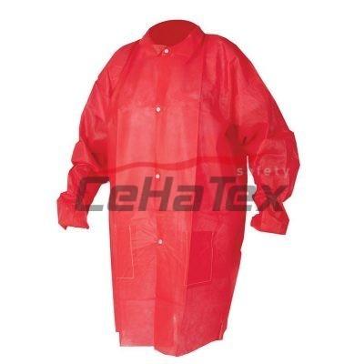 Jednorázový plášť červený