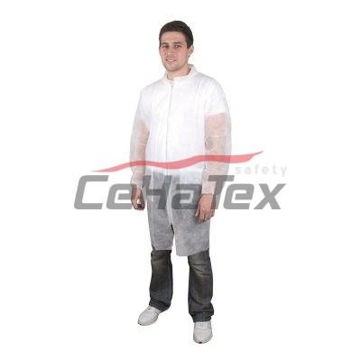 Jednorázový plášť PEPE biely