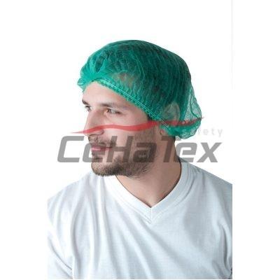Jednorázová čapica zelená