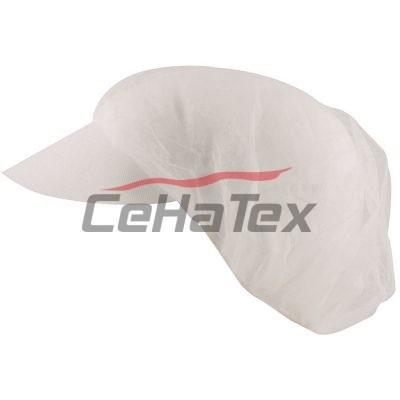 Jednorázová čapica so šiltom H4047