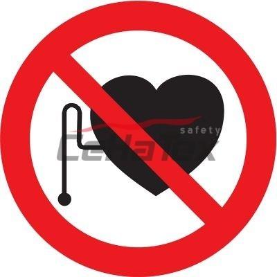 Zákaz vstupu osobám s kardiostimulátorom