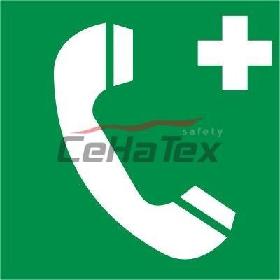 Núdzový telefón pre prvú pomoc alebo únik