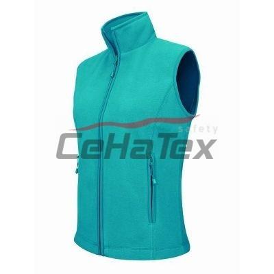 Flísová vesta tropická modrá