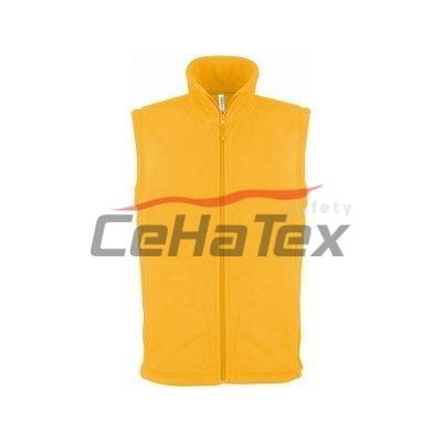 Flísová vesta žltá