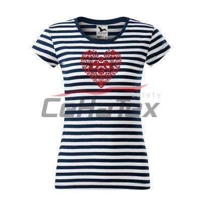 Dámske tričko s ľudovou výšivkou